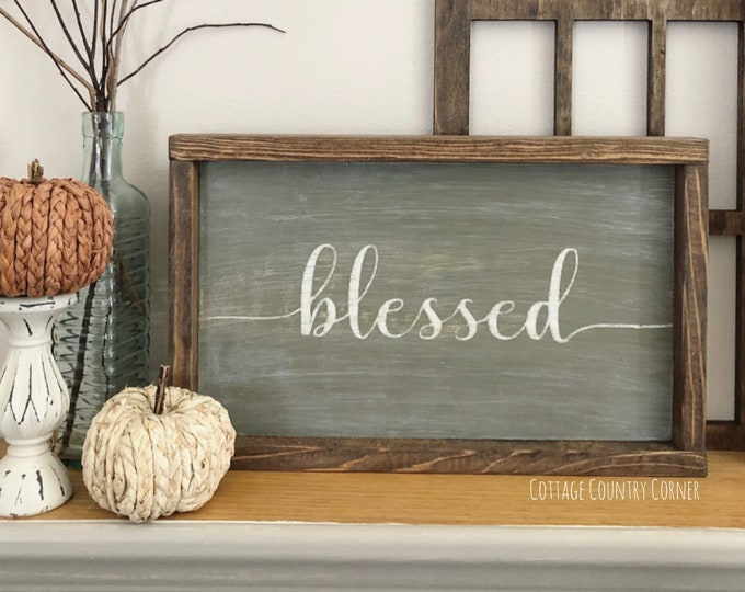 Blessed sign - Farmhouse decor - Wall Decor - farmhouse kitchen - farmhouse kitchen decor - kitchen decor - home decor