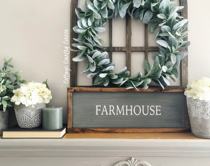 Farmhouse Sign - Farmhouse Wood Sign - Farmhouse Wall Decor - Wood Farmhouse Sign - Farmhouse Wood Wall Decor - Farmhouse Decor