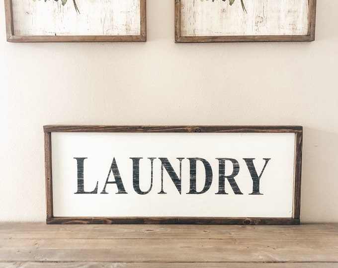 Laundry Room Sign 12x30