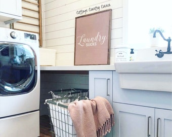 32x26 Laundry Sucks Sign | Laundry Sign | Laundry Room Sign | Laundry Room Decor | Laundry Room | Farmhouse Laundry Sign