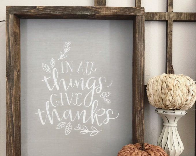 Give Thanks sign - Farmhouse decor - Wall Decor - farmhouse kitchen - farmhouse kitchen decor - kitchen decor - home decor