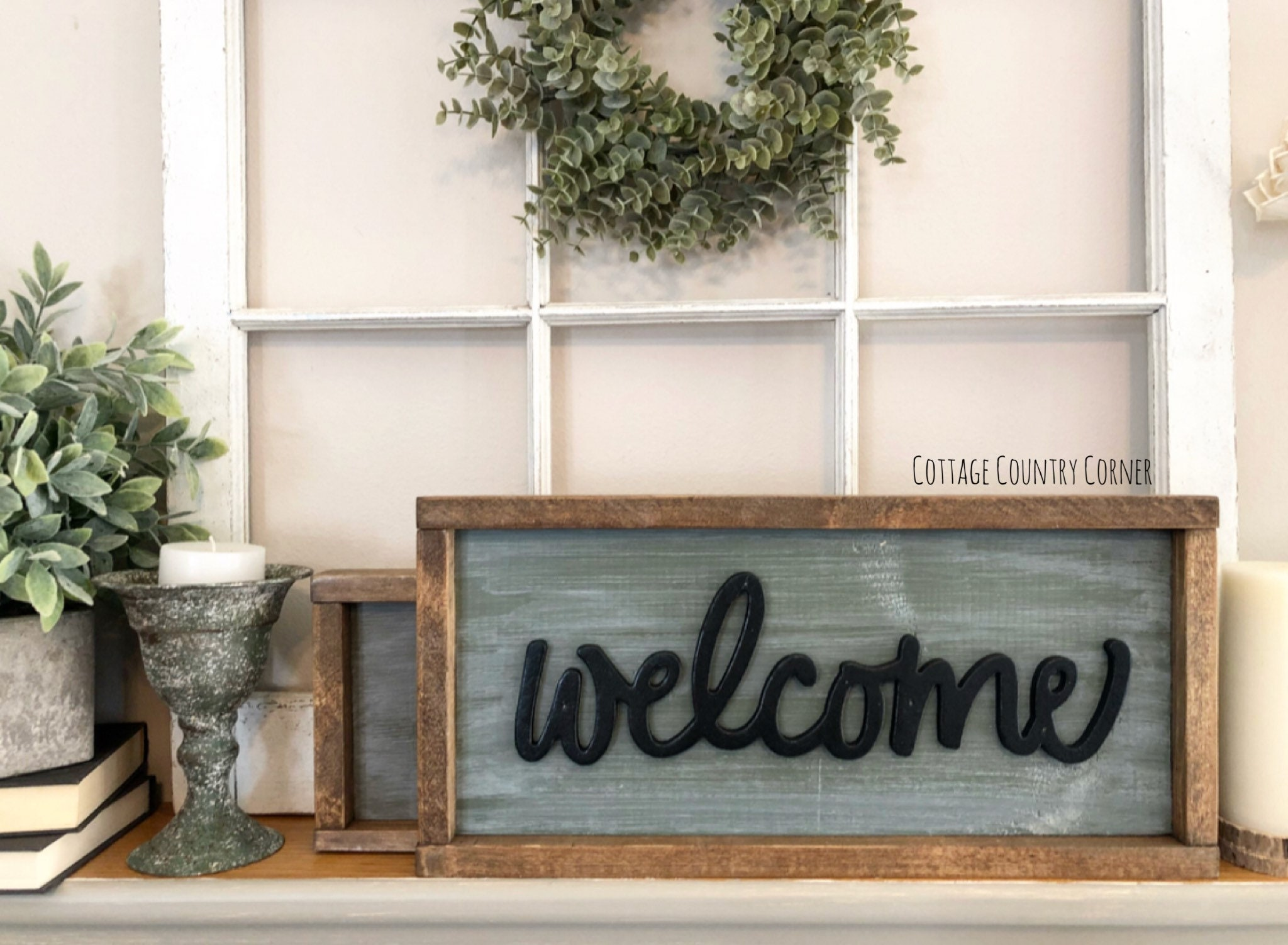 Welcome sign farmhouse decor wall decor farmhouse kitchen farmhouse kitchen decor kitchen decor home decor