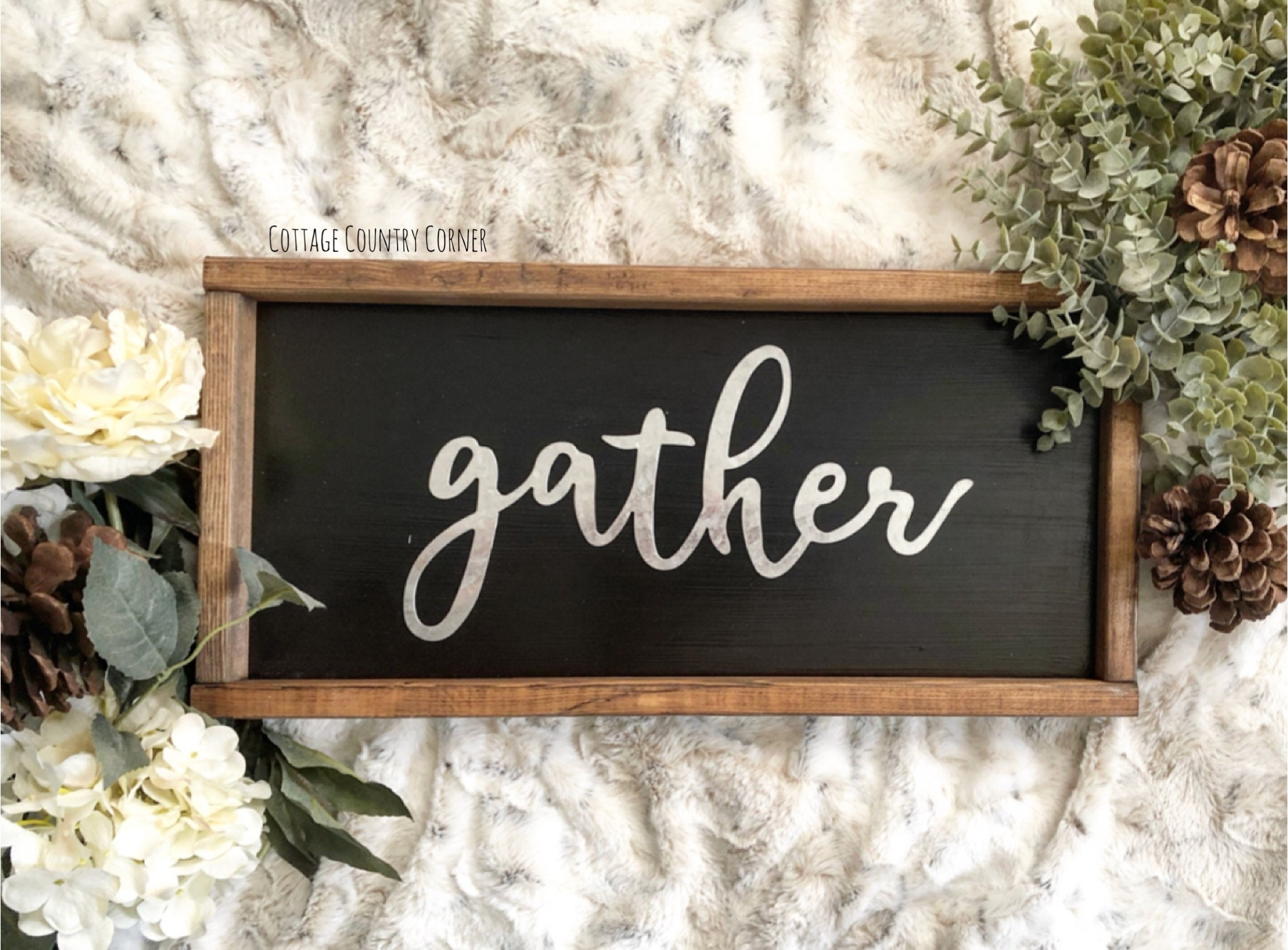 Small Galvanized Gather Sign  Gather Sign  Gather Wood