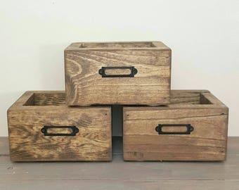 Mini Storage Bins - Storage Bins - Storage Bins for Medicine Cabinet - Small Storage Bins - Bins for Storage