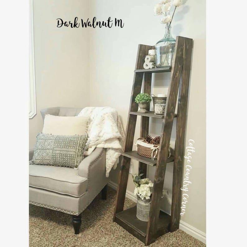 Exceptionnel Tiered Ladder Shelf   Ladder Shelf   Bathroom Shelf   Bookcase   Wood Shelf    Plate Shelf