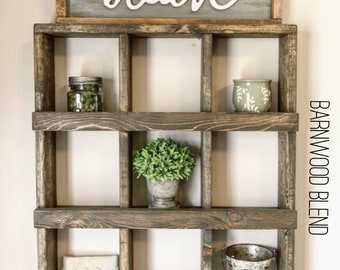 Wall Cubby Organizer - Cubby Shelf - Wall Decor - Wall Cubby Shelf - Cubby Organizer - Farmhouse Decor - Bathroom Shelf - Bath Shelf