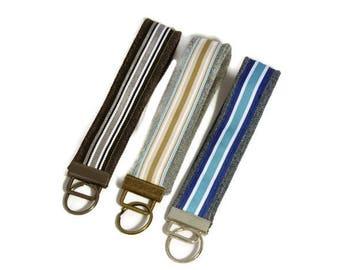 Denim Keychain, Wrist Keychain, Wrist Key Fob, Wrist Lanyard, Keychain Wristlet, Key Lanyard, Upcycled Denim, Keychains for Women
