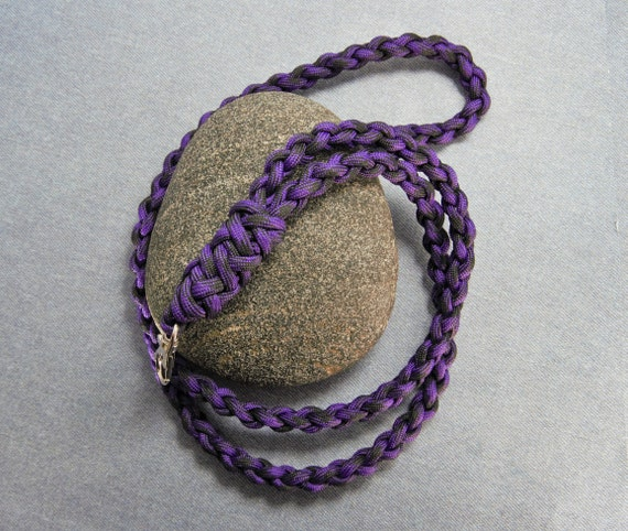 Purple Paracord Neck Lanyard Key Lanyard id Badge Holder  79c0905c3