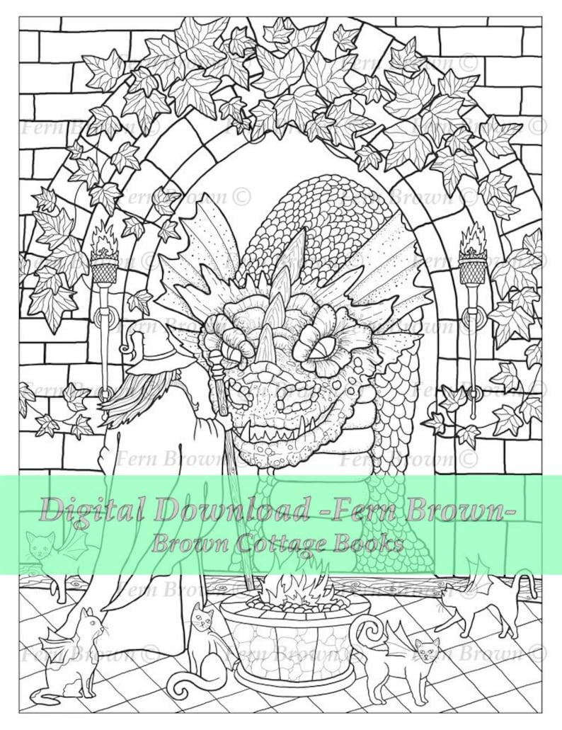 - Adult Coloring Page Line Art Digi Stamp Printable Download Etsy