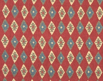 Southwest Style Diamond Chenille Upholstery Fabric By The Yard Etsy