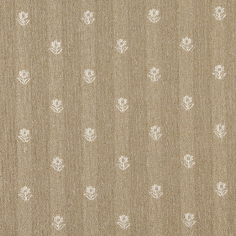 Gold And Ivory Flowers Country Style Upholstery Fabric By The Yard Pattern # C627