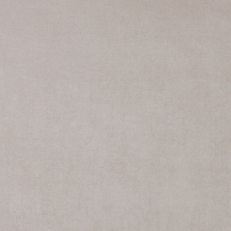 Pattern # D222 Ivory Solid Woven Velvet Upholstery Fabric By The Yard From Microtex