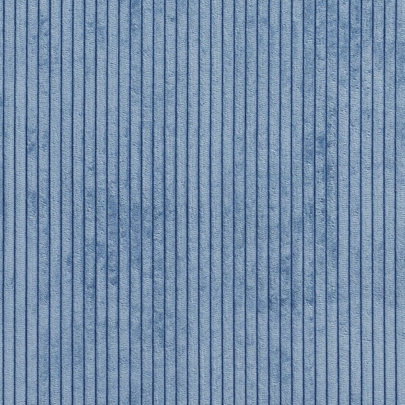 Blue Corduroy Striped Soft Velvet Upholstery Fabric By The Etsy