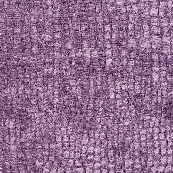 A0151G Platinum Textured Alligator Woven Velvet Upholstery Fabric By The Yard