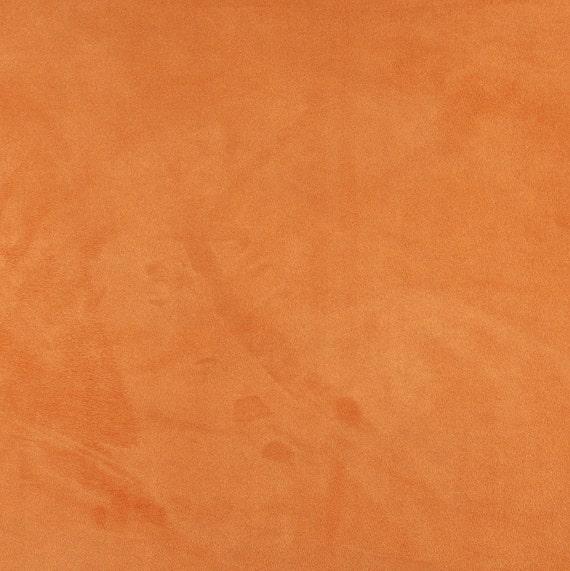 Light Orange Microsuede Upholstery Fabric Etsy