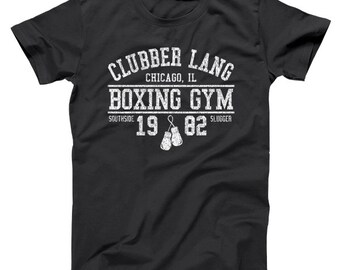 d3b90448fa4c Clubber Lang Boxing Gym Retro Rocky 80S Workout Gym Basic Men's T-Shirt  DT1451