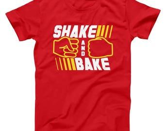 18dba9c31 Shake And Bake Funny Talladega Nights Ricky Bobby Uniform Humor Movie Basic  Men's T-Shirt DT0033