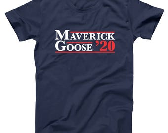 4073acd6 Maverick And Goose 2020 Election Funny Top Gun Movie Basic Men's T-Shirt  DT2135