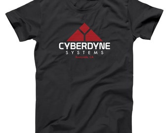 efc9114a6bad Cyberdyne Systems Sunnyvale Terminator Skynet Movie Geek Basic Men's T-Shirt  DT1689