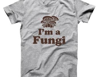 2d101ed6 Im A Fungi Funny Fun Guy Mushroom Humor Basic Men's T-Shirt DT0788