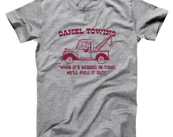12761c739 Camel Towing Company Funny Humor Rude Basic Men's T-Shirt DT2206