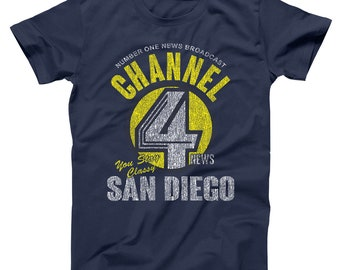 40772d7a Channel 4 News Ron Burgandy San Diego Sex Panther Basic Men's T-Shirt DT0485