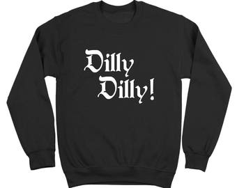more colors dilly dilly beer cheer funny drinking humor party xmas crewneck sweatshirt dt2121