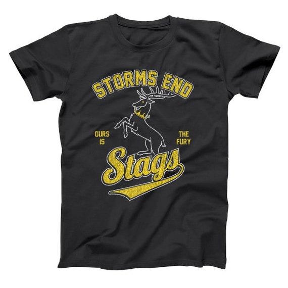 Storms End Stags House Baratheon  Sports  Got  Team Black Basic Men/'s T-Shirt