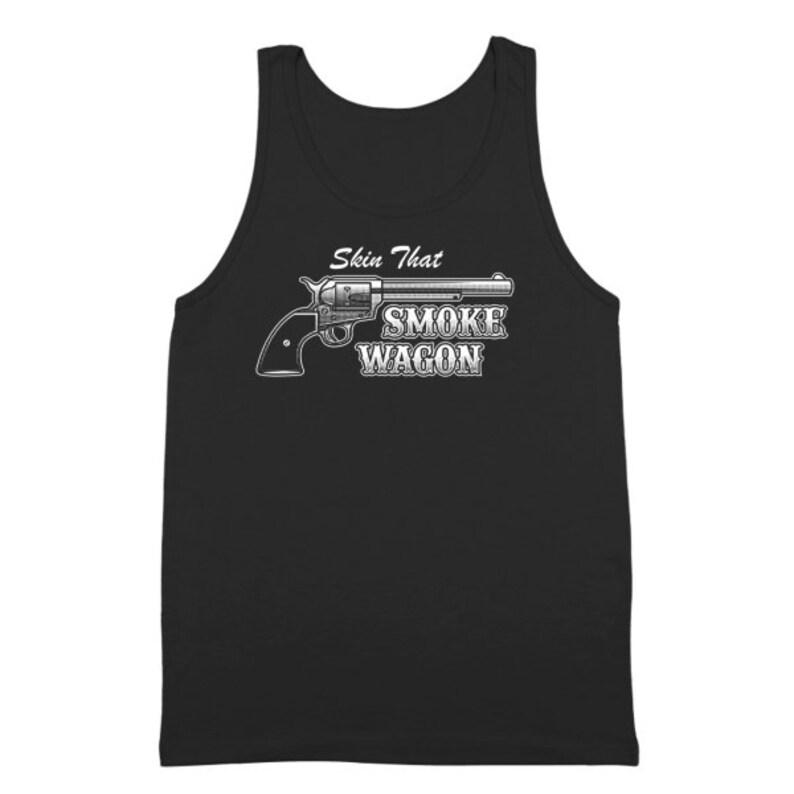 Skin That Smokewagon Funny  Country  Tombstone Black Basic Women/'s T-Shirt