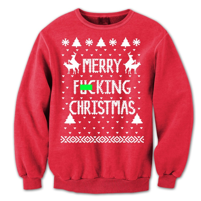 090acaffa5f Merry F n Xmas Christmas Funny Ugly Sweater Party Rude