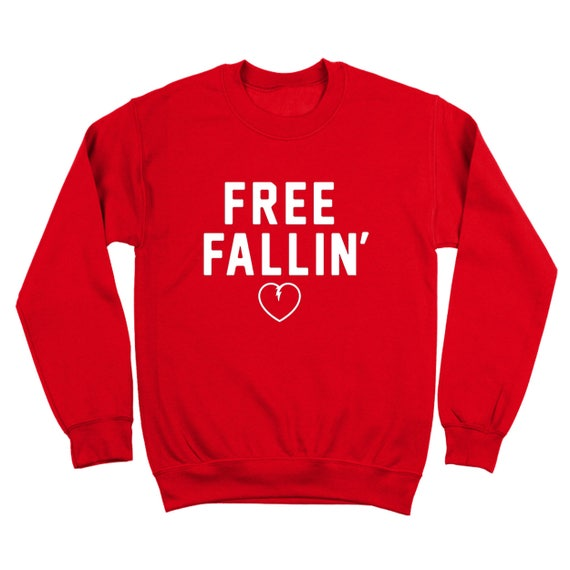 Free Fallin Falling Rip Heart Tom Petty Concert Red Basic Men/'s T-Shirt