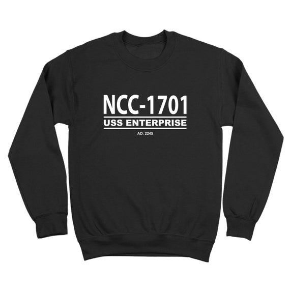 Ncc-1701 Star Trek Retro Ship Enterprise Uniform Geek Crewneck  9928ced1f27