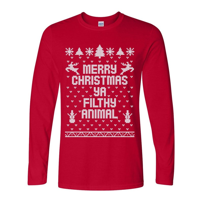 2a53ed63c Merry Christmas Ya Filthy Animal You Ugly Sweater Contest | Etsy