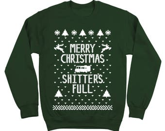 Merry Christmas Sh*Tters Full Griswold Vacation Costume Cousin Eddie Crewneck Sweatshirt DB0003