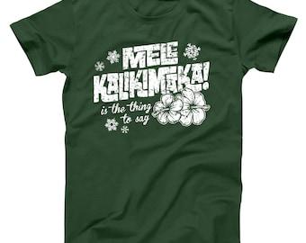 Mele Kalikimaka Funny Hawaii Christmas Griswold Vacation Basic Men's T-Shirt DT0216