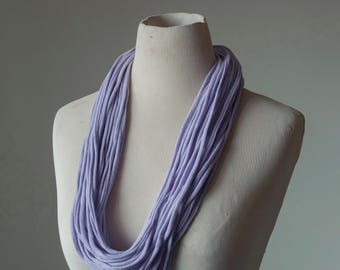 Recycled T-Shirt Necklace Purple Lavender