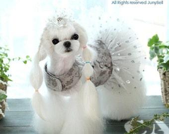 Luxury Girl  - Designer Handmade Harness dress set  for Pets / Free Shipping