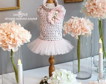 Lawrence * Limited Edition * - Designer Handmade classic dress for Pets / Free Shipping/Wedding/Bride dress