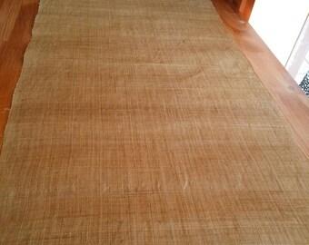 naturally dyed yellow hemp, plain color, kimono obi fabric, 35cm width, no.025