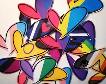 Pride Heart Stickers