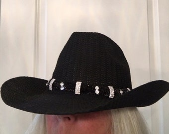 Bling Crystal Jeweled Hat Band Cowgirl Western Circle Design