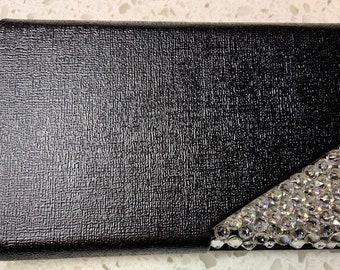 Swarovski Crystal Business Card Holder - Black (purse)