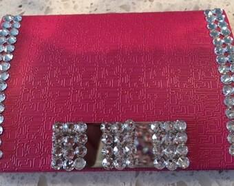 Swarovski Crystal Business Card Holder Magnetic - Pink