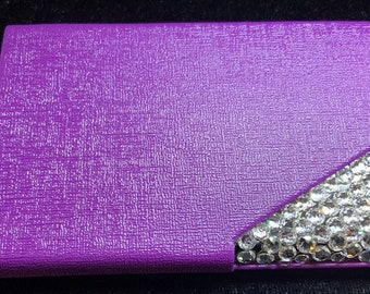 Swarovski Crystal Business Card Holder Purple (purse)