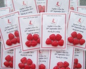 Hen Party Favours - Personalised - Red Chocolate Heart Dragees - L Plate Design