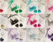 Personalised Hen Party Favour - 2 Chocolates Wine Glass Charm