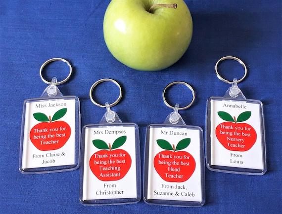 Nursery teacher Teaching assistant Thank you Gift for Teacher Apple Keyring
