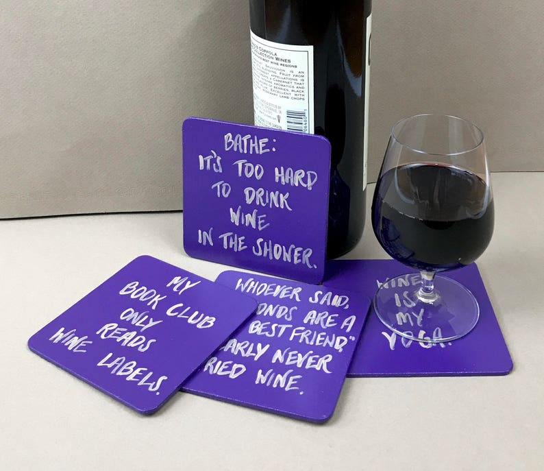 Funny Wine Coasters by Life Unsupervised