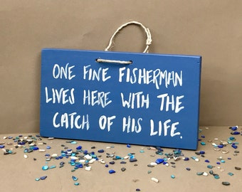 Father's Day Sign, Father's Day Fishing Gift, Fishing Decor, Fishing Sign, Fisherman Sign, Cabin Sign, Fishing Gift, Fish Decor, Fish Sign