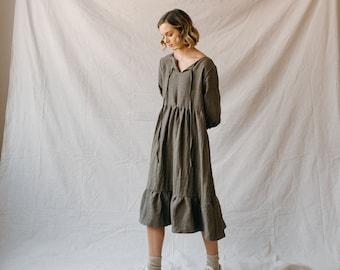 Flowy Boho Dress PDF Sewing Pattern | Digital Download Sewing Pattern | The Betty Dress